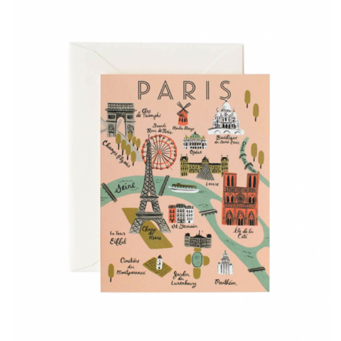 Paris,Map,paris, city, map, france, french, français, rifle paper co., international