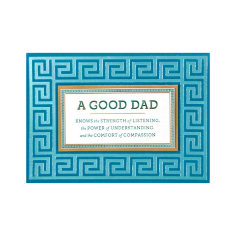 Greek,Borders,with,Teal,Flocking,papyrus, handmade, greeting, card, cards, father's day, father, fathers, dad, dads, daddy, june 19th, nineteenth,