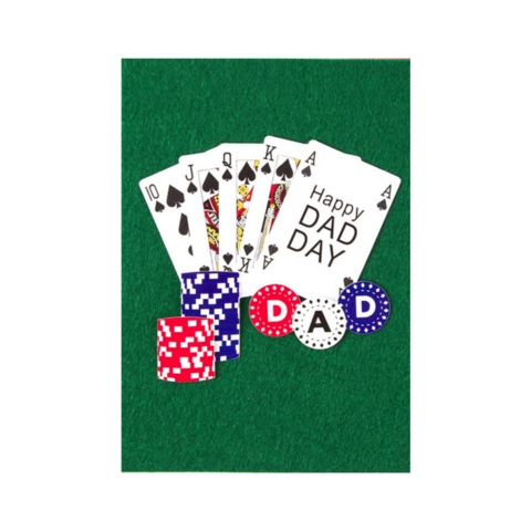 Poker,Dad,papyrus, handmade, greeting, card, cards, father's day, father, fathers, dad, dads, daddy, june 19th, poker, gambling, ace, international, hong kong