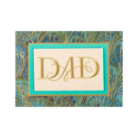 Embroidered,Linen,papyrus, handmade, greeting, card, cards, father's day, father, fathers, dad, dads, daddy, june 19th, embroidered, linen, peacock, print, international, hong kong