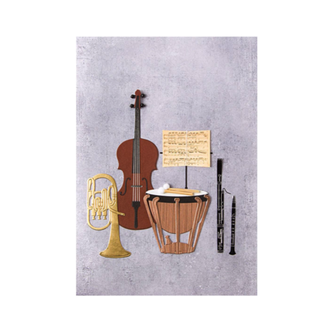 Handmade,Instruments,papyrus, handmade, greeting, card, cards, father's day, father, fathers, dad, dads, daddy, june 19th, instruments, music, classical, classic, orchestra, international, hong kong