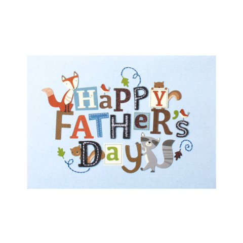 Father's,Day,Lettering,with,Critters,papyrus, handmade, greeting, card, cards, father's day, father, fathers, dad, dads, daddy, june 19th, nineteenth, lettering, cute, critters, international, hong kong