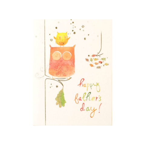 Sweet,Owls,papyrus, handmade, greeting, card, cards, father's day, father, fathers, dad, dads, daddy, june 19th, nineteenth, sweet, owls, cute, international, hong kong