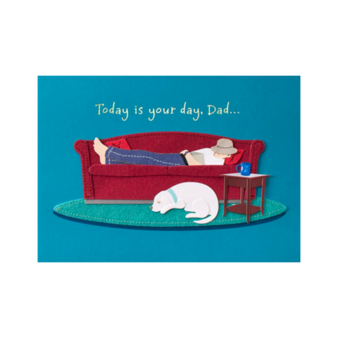 Handmade,Dad,On,Couch,papyrus, handmade, greeting, card, cards, father's day, father, fathers, dad, dads, daddy, june 19th, nineteenth, couch, lazy, international, hong kong
