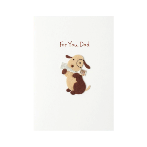 Handmade,Dog,Bringing,Paper,papyrus, handmade, greeting, card, cards, father's day, father, fathers, dad, dads, daddy, june 19th, nineteenth, dog, bringing, paper, animal, animals, international, hong kong