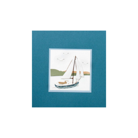 Handmade,Sailboat,on,Blue,papyrus, handmade, greeting, card, cards, father's day, father, fathers, dad, dads, daddy, june 19th, nineteenth, sailboat, on, blue, international, hong kong