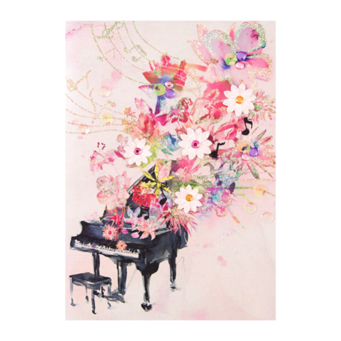 Floral,Piano,by,Taylor,Swift,papyrus, taylor swift, greeting, card, handmade, floral, piano, international, hong kong