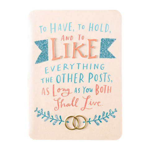 Like,Everything,You,Post,papyrus, emily mcdowell, greeting card, handmade, wedding, marriage, like, social media, modern, contemporary, international, hong kong