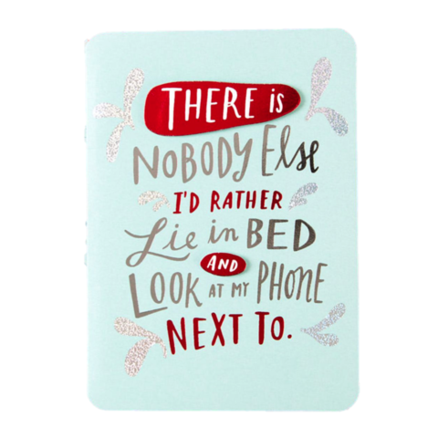 Look,At,My,Phone,With,Valentine's,Day,Card,papyrus, emily mcdowell, studio, romance, handmade, greeting, card, love, phone, technology, international, hong kong