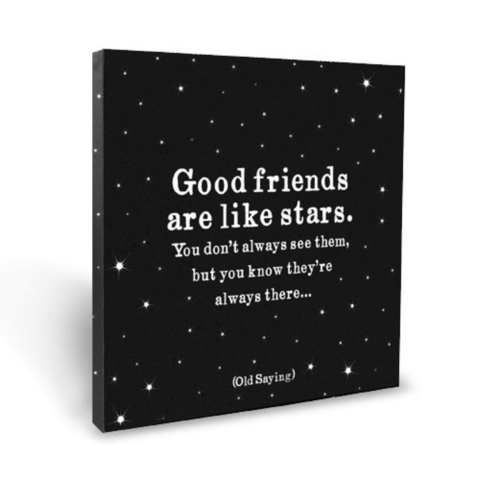 good,friends,are,stars,canvas,quotable, inspirational, quote, quotes, home decor, décor, canvas, international, hong kong