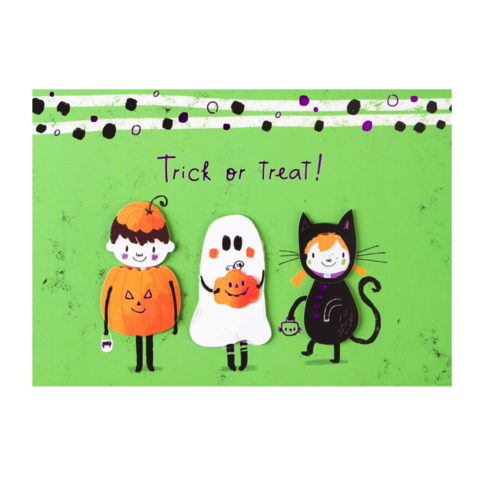 Papyrus jolie papier uk collection anas papeterie greeting whimsytrickortreaterspapyrus halloween handmade greeting m4hsunfo