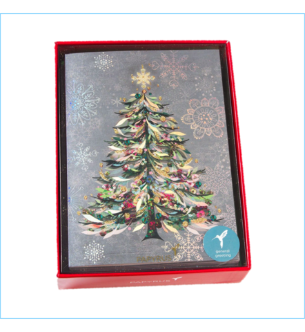 Pastel,Christmas,Tree,Boxed,Holiday,Cards,(Set,of,14),papyrus, christmas, xmas, xbc, boxed, box, cards, card, handmade, greeting, holidays, holiday, pastel, tree, snowflakes, international, hong kong
