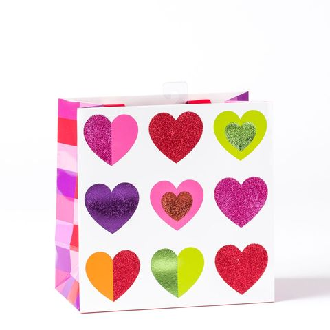 Multicolor,Hearts,Medium,Gift,Bag,papyrus, valentine's day, multicolor, hearts, gift, bag, medium