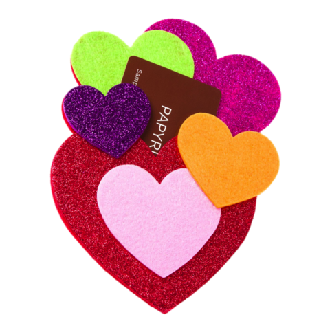 Heart,Cluster,Gift,Card,Holder,heart, cluster, gift, card, holder, papyrus, valentine's, valentine, day, international, hong kong