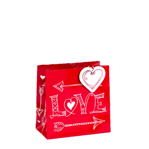 Straight,from,the,Heart,Small,Gift,Bag,straight, from, the, heart, small, gift, bag, valentine's, valentine, day, papyrus, love, romance, international, hong kong