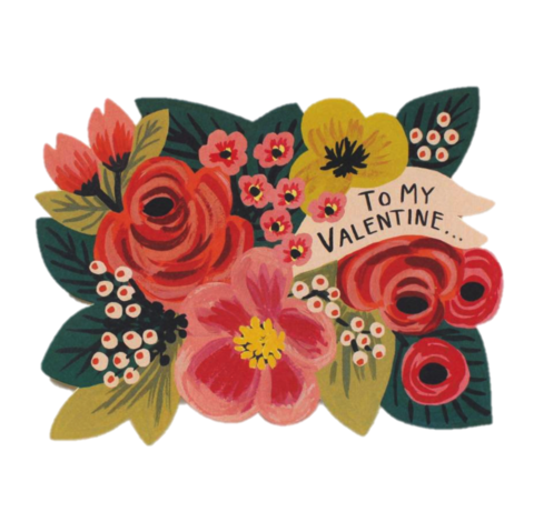 To,My,Valentine,Die-Cut,Valentine's,Day,Card,rifle paper co, valentine's, valentine, day, diecut, die, cut, love, romance, international, hong kong
