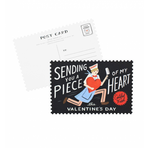 Piece,of,My,Heart,Postcard,(Set,10),Valentine's,Day,Box,Set,rifle paper co, valentine's, valentine, day, love, romance, postcard, postcards, set, of, ten, 10, stationery, boxed, box, handmade, greeting, card, piece, my, heart, international, hong kong