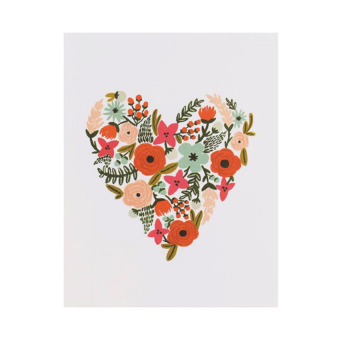 Floral,Heart,Valentine's,Day,Card,rifle paper co, floral, heart, flowers, flower, valentine, valentine's, day, love, romance, international, hong kong