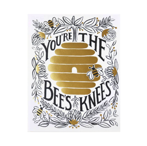 You're,The,Bee's,Knees,Valentine's,Day,Card,rifle paper co, valentine's, valentine, day, bees, knees, handmade, greeting, card, international, hong kong