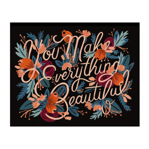 Everything,Beautiful,Art,Print,rifle paper co, everything, beautiful, art, print, valentine's, day, valentine, romance, love, handmade, painting, international, hong kong
