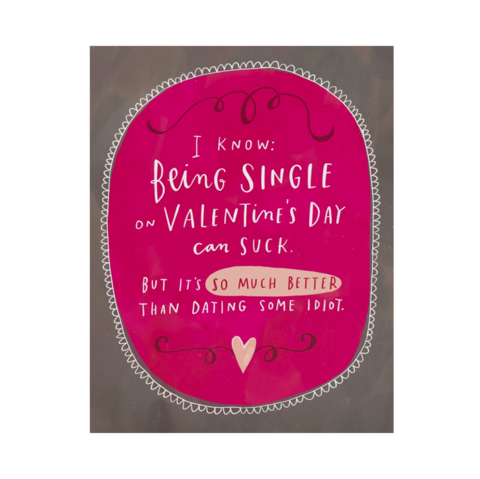 Dating,Some,Idiot,Valentine's,Day,Card,emily mcdowell, greeting, card, humor, funny, romance, love, valentine's, valentine, day, international, hong kong
