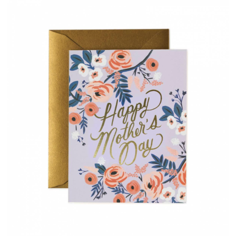 Rosy,Mother's,Day,Card,rosy, floral, mother's, mother, mama, mom, day, card, greeting, handmade, gold, foil, rifle, paper, co, international, hong kong