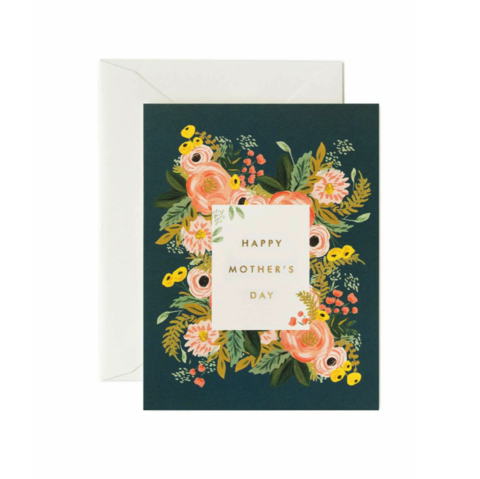 Bouquet,Mother's,Day,Card,bouquet, mother's, mothers, mother, mom, day, handmade, greeting, card, gold, foil, floral, print, rifle, paper, co, international, hong kong