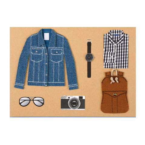 Sportswear,Father's,Day,Card,father's day, fathers, father, dad, daddy, june 18th, eighteenth, papyrus, handmade, greeting, card, international, hong kong, sportswear, cool, outfit, coolest, rad, best, backpack, glasses, sunglasses, camera, vintage, denim