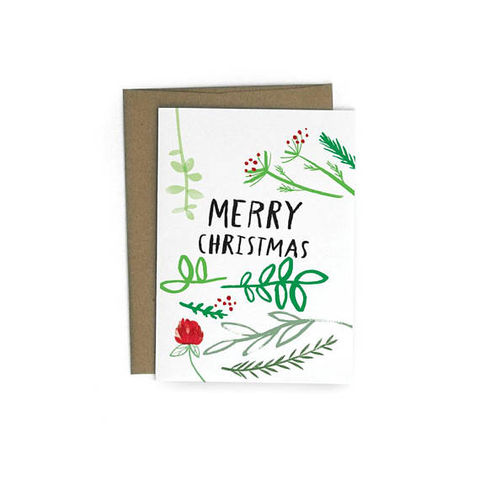 Christmas,Sprigs,Card,christmas, sprigs, plants, pine, plant, holiday, handmade, greeting, card, redcruiser
