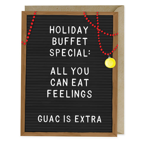 All,You,Can,Eat,Holiday,Card,all, you, can, eat, emily, mcdowell, studio, holiday, christmas, funny, humorous, hilarious, handmade, greeting, card