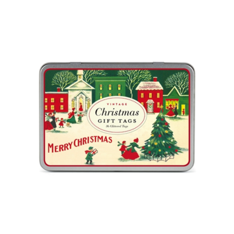 Merry,Christmas,Gift,Tags,cavallini, gift, tags, merry, christmas, holiday, holidays, pack, accessories, tin, vintage, festive