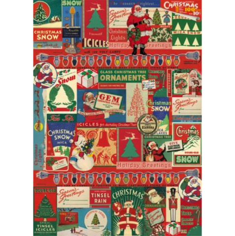 Vintage,Christmas,Wrap,cavallini, gift, wrap, sheet, wrapping, paper, fine art, italian, christmas, holiday, holidays, vintage