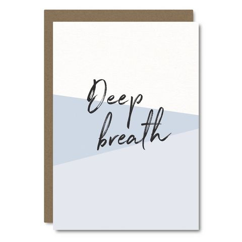 Deep,Breath,Blank,Card,little city love, deep, breath, blank, friendship, encouragement, handmade, greeting, card