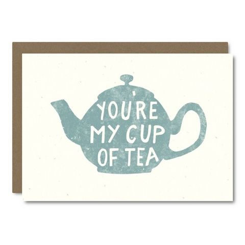 My,Cup,Of,Tea,Blank,Card,little city love, blank, greeting, card, handmade, friendship, drink, tea, teacup, tea spout