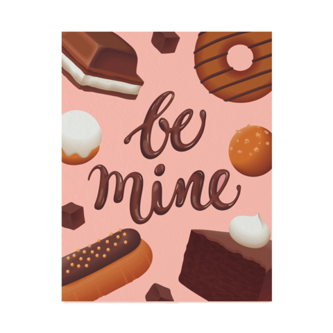 Be,Mine,Valentine's,Day,Card,clap clap, cute, valentine's day, valentines, day, romance, romantic, love, handmade, greeting, card, be mine, donuts, donut, chocolates, chocolate