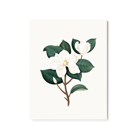 Magnolia,Scented,Card,clap clap, magnolia, scented, chip, handmade, greeting, card, botanical, flower, floral, smell, fragrance