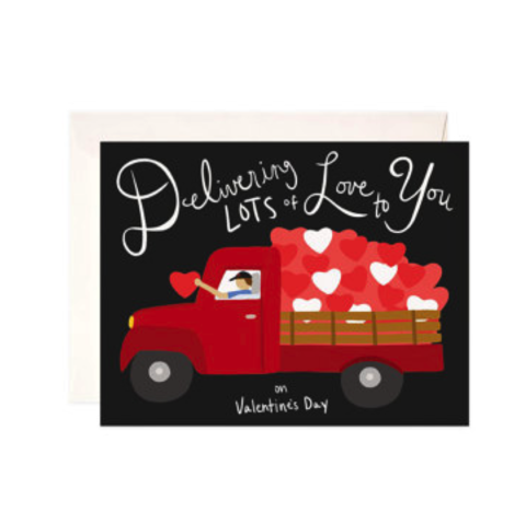 Delivering,Love,Valentine's,Day,Card,bloomwolf studio, valentine's day, valentine, valentines, handmade, greeting, card, delivering, lots, of, love, romance, romantic