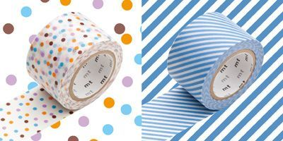 2 rotoli washi tape pois/righe - product image