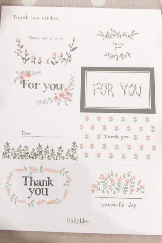 Thank you stickers - product image