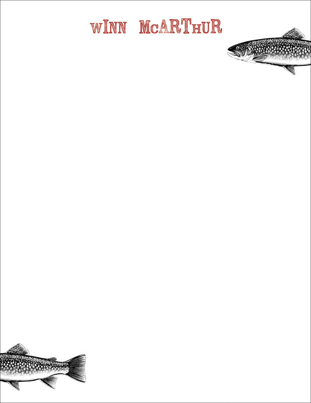 speckled trout stationery - product images