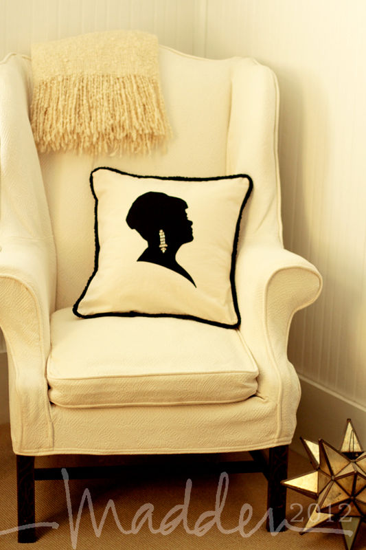 custom silhouette pillow 18x18 - product images  of