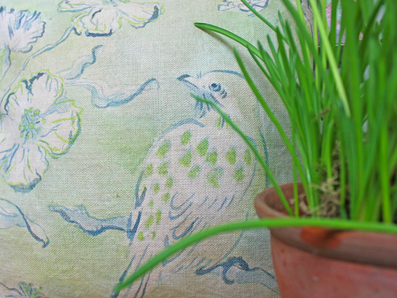painted cushion: Spotted Bird  - product images  of