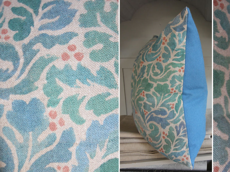 painted cushion: Acanthus (turquoise) - product images  of