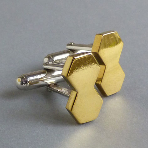 Double,hexagon,cufflinks, mens jewellery, gents jewellery, hexagon, geometric jewellery