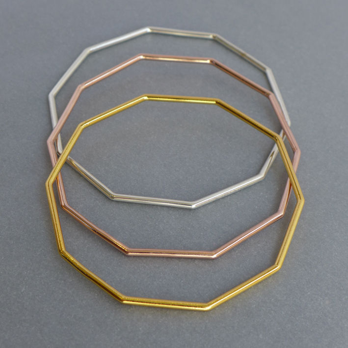 Triple bangle set - product images  of