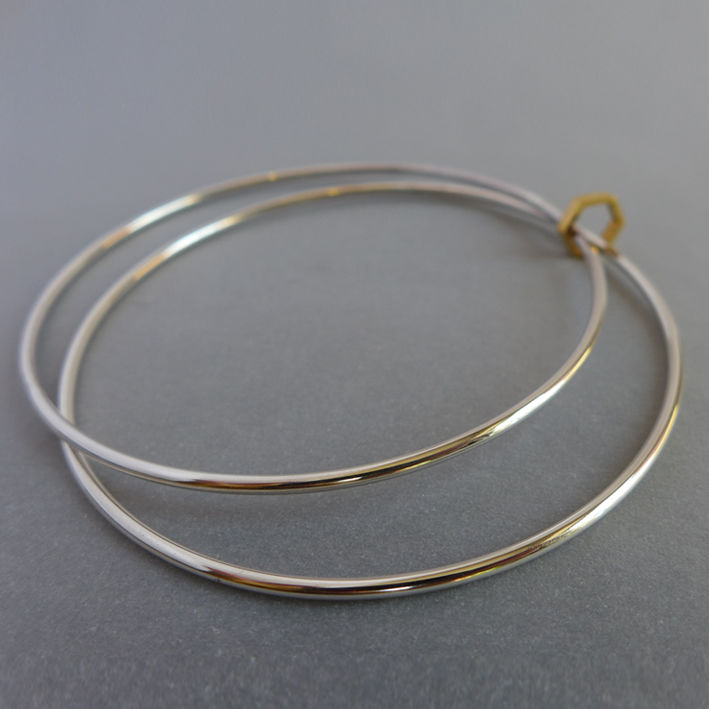 Double hexagon element bangle - product images  of