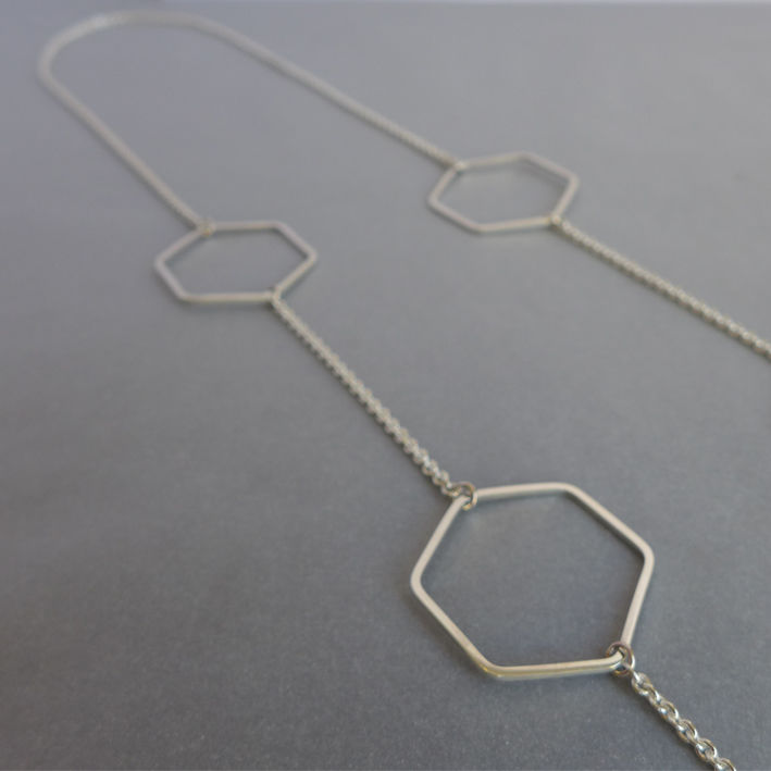 Long hexagon necklace - product images  of