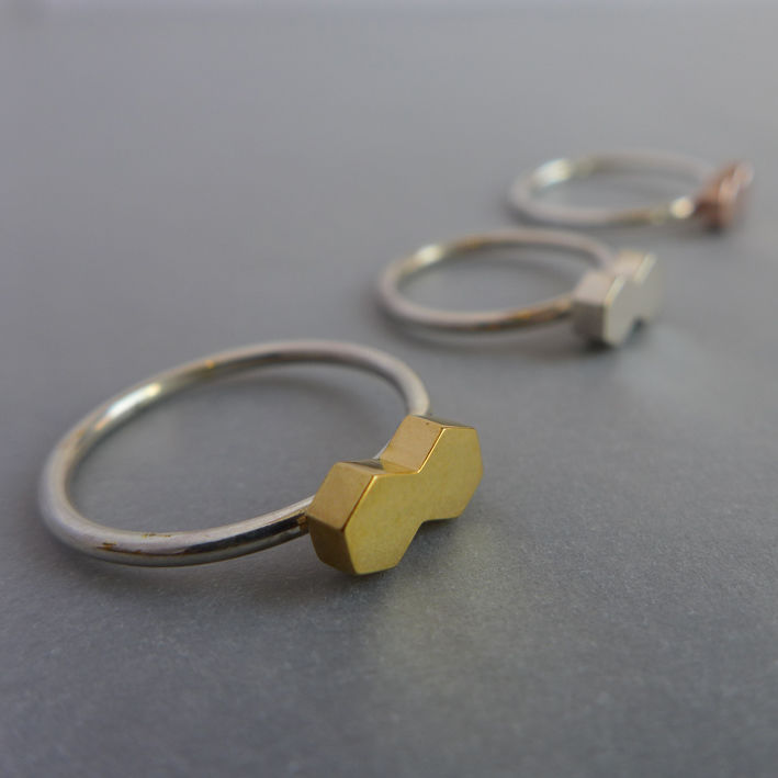 Double hexagon ring - product images  of