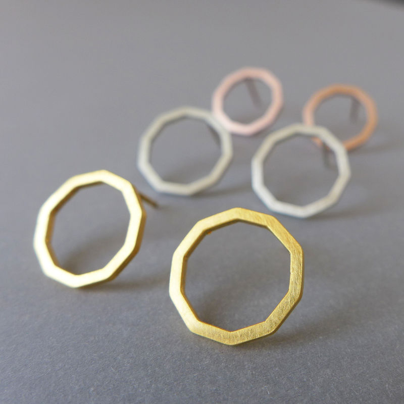 Decagon earrings - product images  of