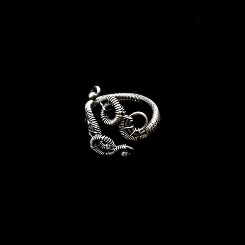 Sterling,Silver,Swirl,Knuckle,Ring,by,Mayahandmade,wire ring, alternative fashion, midi ring, knuckle ring, sterling silver, 925 silver, wire wrapped, handmade, mayahandmade